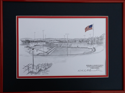 12x16: Black & White w/ Color Flag Framed